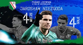 Jarosław Niezgoda piłkarzem listopada PKO Ekstraklasy